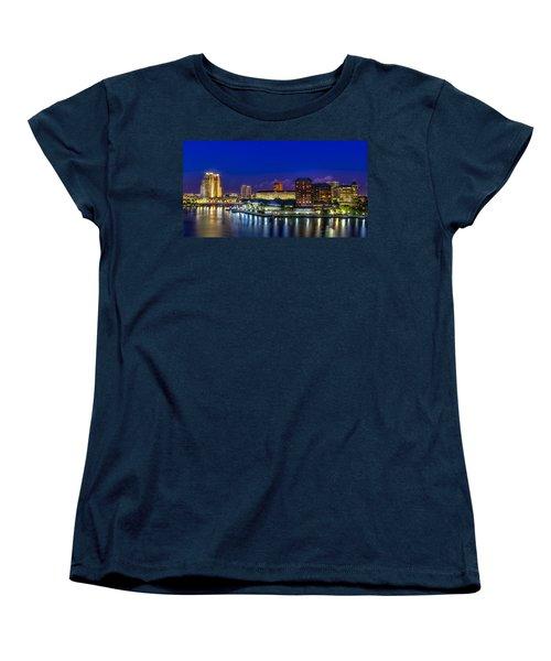 Harbor Island Nightlights Women's T-Shirt (Standard Cut) by Marvin Spates