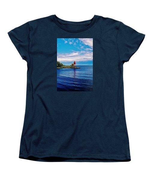Harbor Light Women's T-Shirt (Standard Cut) by Daniel Thompson