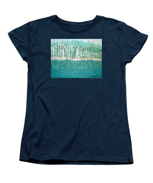 Harbor Shores Women's T-Shirt (Standard Cut) by George Riney