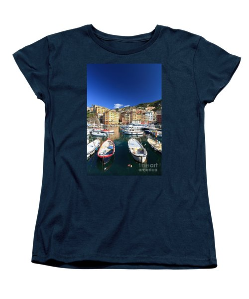 Women's T-Shirt (Standard Cut) featuring the photograph Harbor With Fishing Boats by Antonio Scarpi