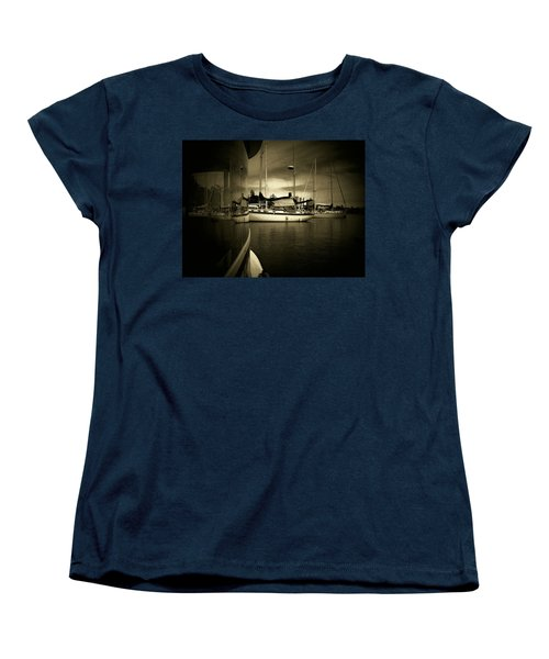Women's T-Shirt (Standard Cut) featuring the photograph Harbour Life by Micki Findlay