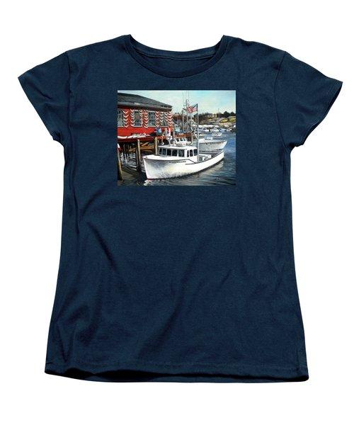 Hard Merchandise Rocky Neck Women's T-Shirt (Standard Cut) by Eileen Patten Oliver