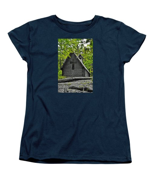 Hartwick Pines Chapel Bwg Women's T-Shirt (Standard Cut) by Daniel Thompson