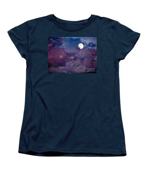 Haunted Moon Women's T-Shirt (Standard Cut) by Roselynne Broussard