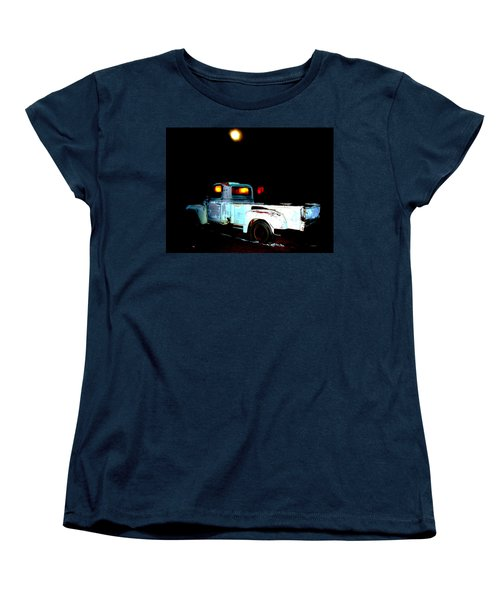 Women's T-Shirt (Standard Cut) featuring the digital art Haunted Truck by Cathy Anderson