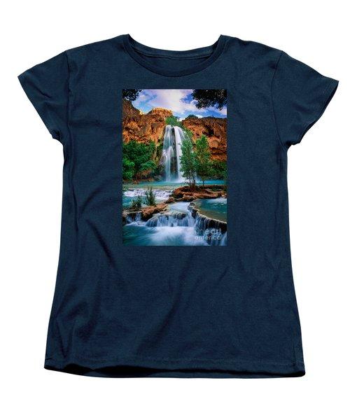 Havasu Cascades Women's T-Shirt (Standard Cut) by Inge Johnsson