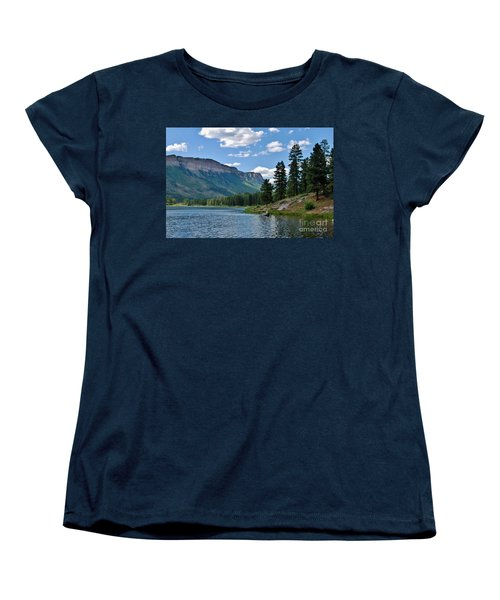 Women's T-Shirt (Standard Cut) featuring the photograph Haviland Lake by Janice Rae Pariza