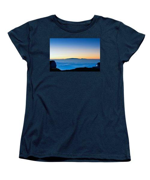 Women's T-Shirt (Standard Cut) featuring the photograph Hawaii Sunset by Jim Thompson