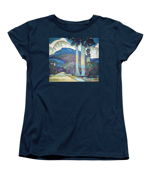 Hawaiian Landscape Women's T-Shirt (Standard Cut) by Pg Reproductions