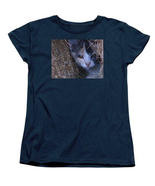Haystack Cat Women's T-Shirt (Standard Cut) by Greg Patzer