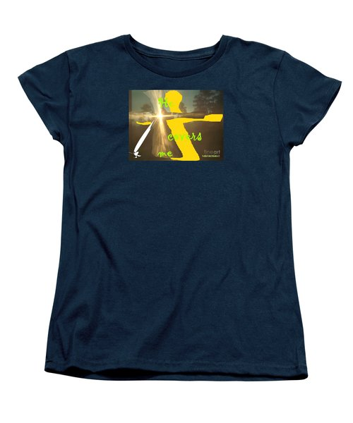 Women's T-Shirt (Standard Cut) featuring the photograph He Covers Me Lll by Robin Coaker