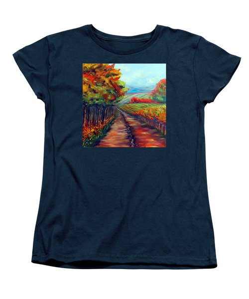 He Walks With Me Women's T-Shirt (Standard Cut) by Meaghan Troup