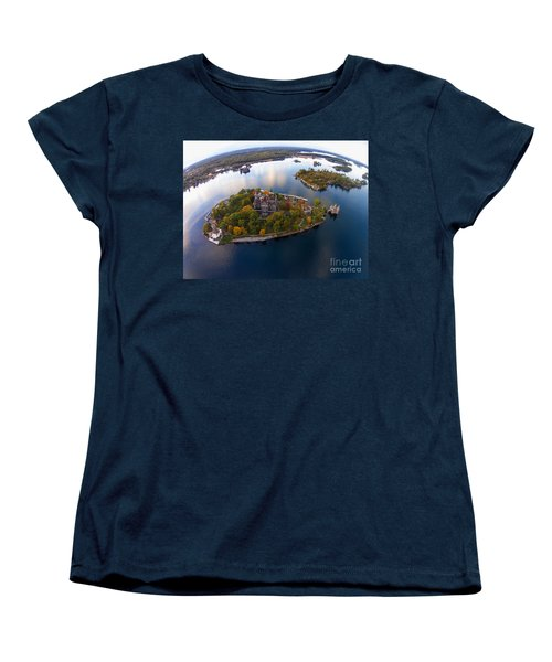 Heart Island George Boldt Castle Women's T-Shirt (Standard Cut) by Tony Cooper
