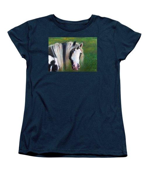 Women's T-Shirt (Standard Cut) featuring the painting Heart by Karen Kennedy Chatham