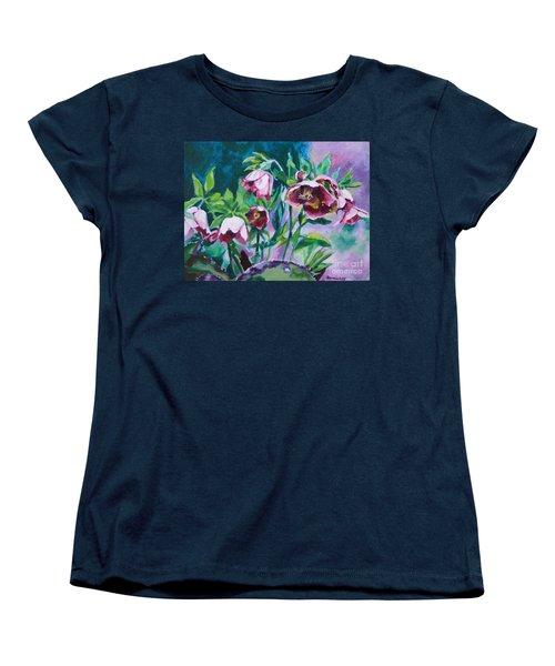Hellebore Flowers Women's T-Shirt (Standard Cut) by Jan Bennicoff