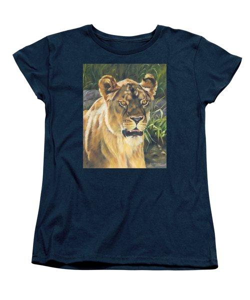 Her - Lioness Women's T-Shirt (Standard Cut) by Lori Brackett