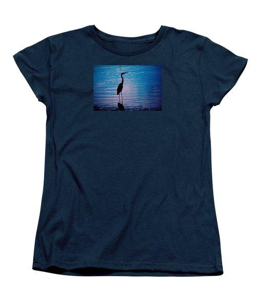 Herons Moment Women's T-Shirt (Standard Cut) by Karol Livote