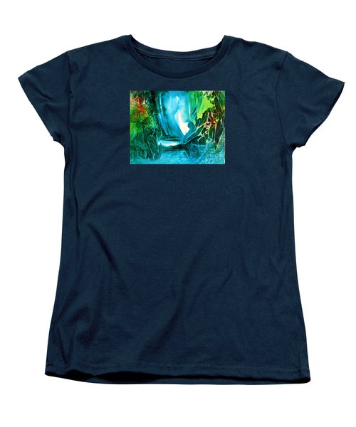 Women's T-Shirt (Standard Cut) featuring the painting Hidden In The Stream by Allison Ashton