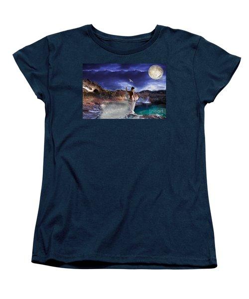 Women's T-Shirt (Standard Cut) featuring the digital art Hidden River by Liane Wright