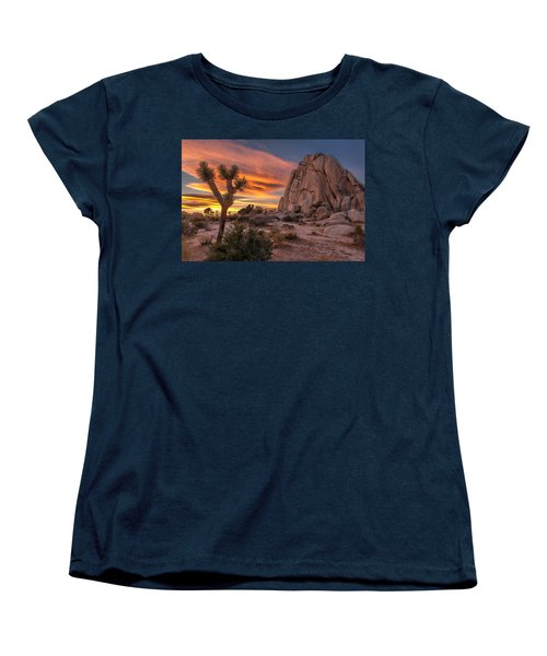 Hidden Valley Rock - Joshua Tree Women's T-Shirt (Standard Cut) by Peter Tellone
