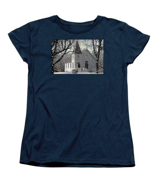 Higgensville Church Women's T-Shirt (Standard Cut) by Liane Wright
