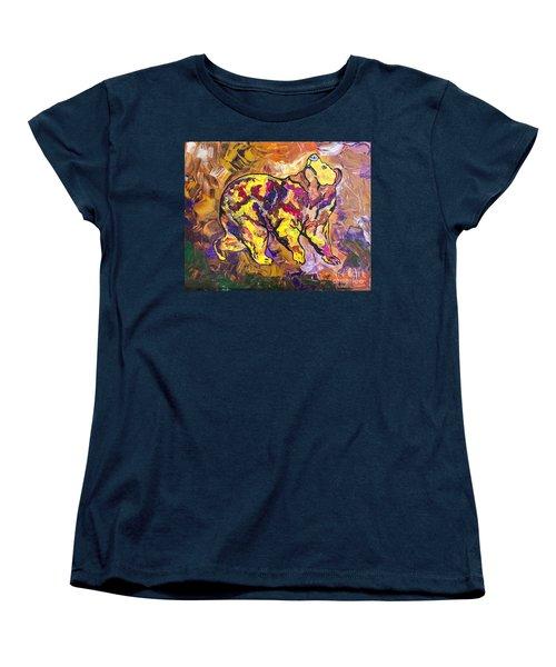 Women's T-Shirt (Standard Cut) featuring the painting Highland's North Carolina Bear by Janice Rae Pariza