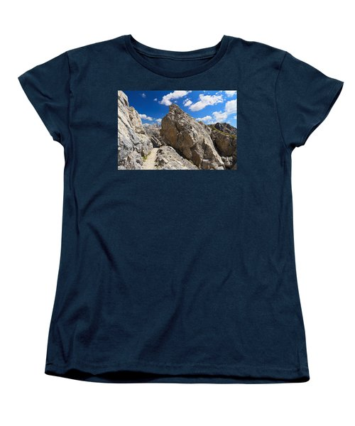 hike in Dolomites Women's T-Shirt (Standard Cut) by Antonio Scarpi