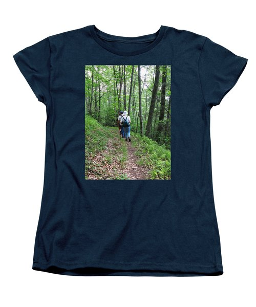 Hiking Group Women's T-Shirt (Standard Cut) by Melinda Fawver