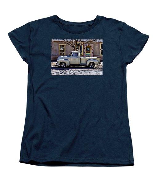 Women's T-Shirt (Standard Cut) featuring the painting Hillsboro New Mexico 1949 Gmc 100 by Barbara Chichester