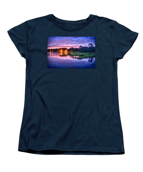 Hilton Head Evening Marsh Women's T-Shirt (Standard Cut) by Renee Sullivan