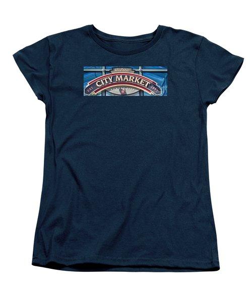 Historic City Market Sign  Women's T-Shirt (Standard Cut) by Liane Wright
