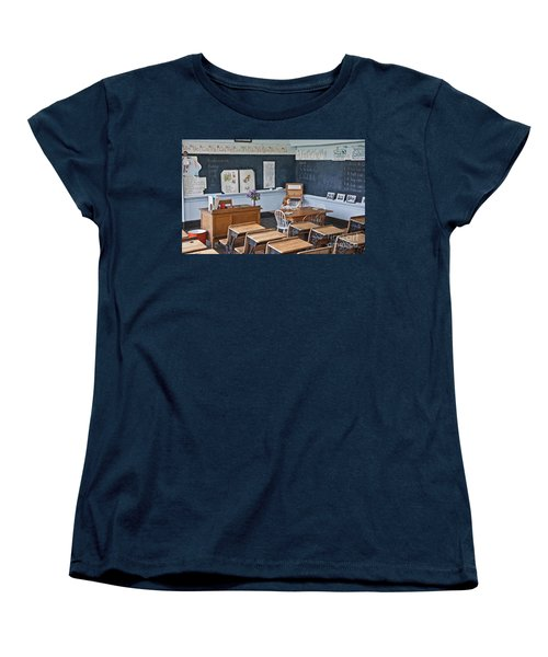 Historic School Classroom Art Prints Women's T-Shirt (Standard Cut) by Valerie Garner