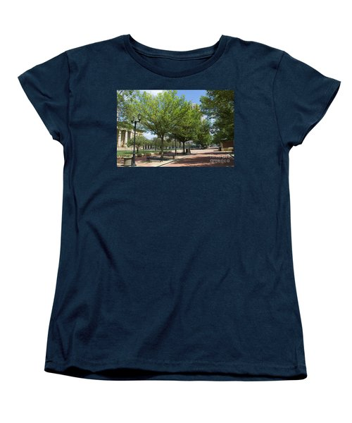 History -  Lincoln Square Springfield Il - Luther Fine Art Women's T-Shirt (Standard Cut) by Luther Fine Art