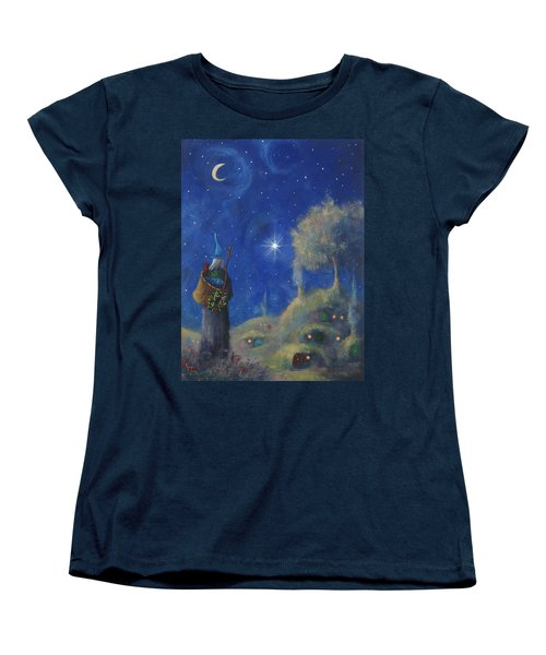 Hobbiton Christmas Eve Women's T-Shirt (Standard Cut) by Joe Gilronan