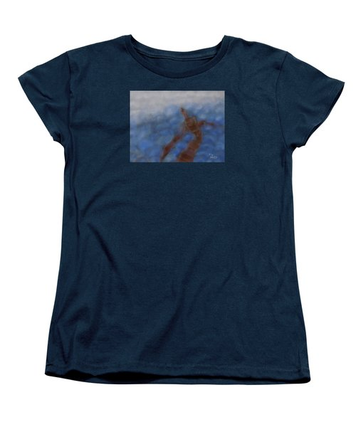 Women's T-Shirt (Standard Cut) featuring the painting Hold The World by Min Zou