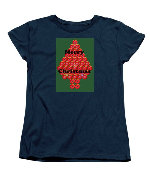 Holiday Tree Of Orbs 1 Women's T-Shirt (Standard Cut) by Nick Kloepping