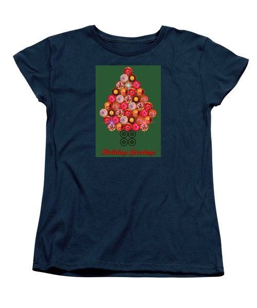 Holiday Tree Of Orbs 3 Women's T-Shirt (Standard Cut) by Nick Kloepping