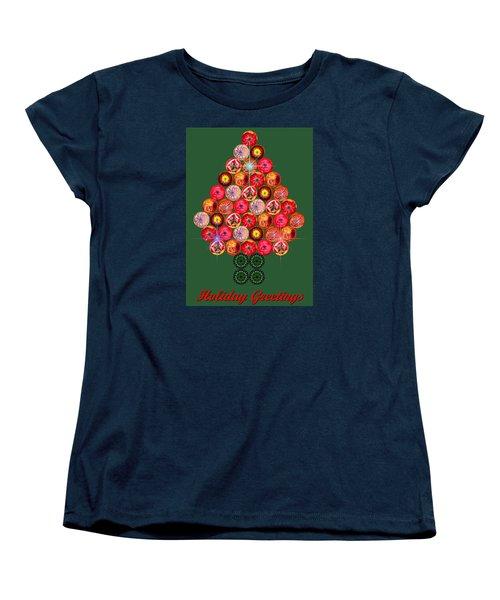Holiday Tree Of Orbs 3 Women's T-Shirt (Standard Cut)