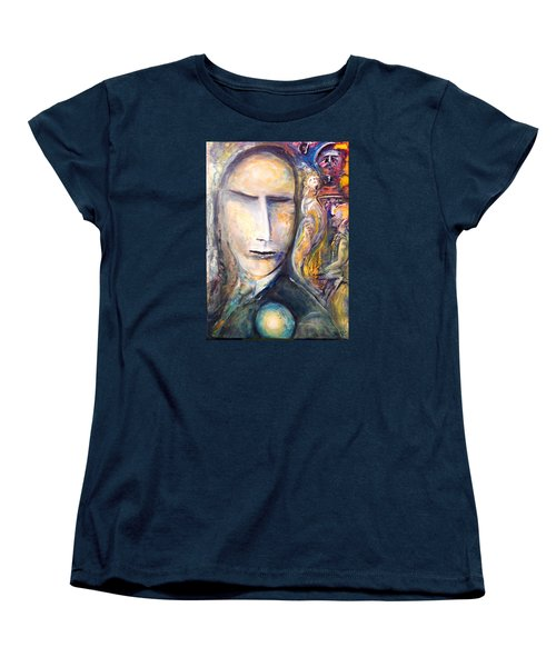 Women's T-Shirt (Standard Cut) featuring the painting Hollow Man  by Kicking Bear  Productions