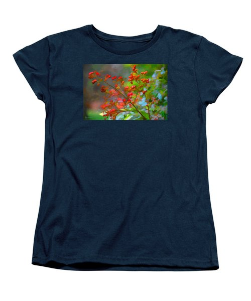 Holly Berry Women's T-Shirt (Standard Cut) by Bonnie Willis