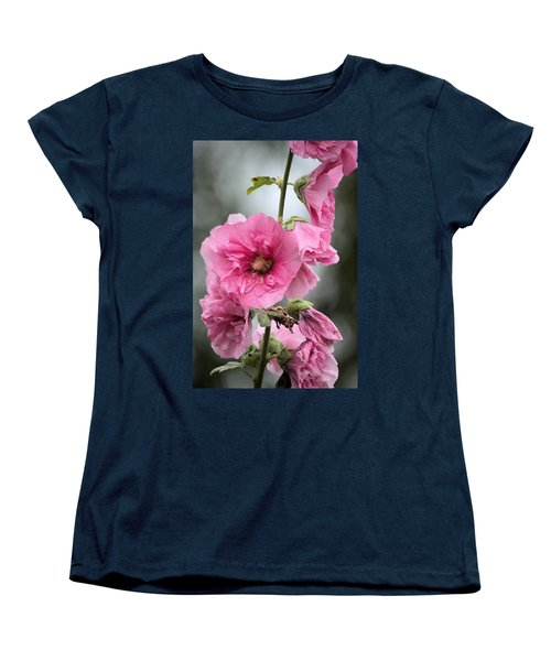 Hollyhock Women's T-Shirt (Standard Cut) by Bonfire Photography