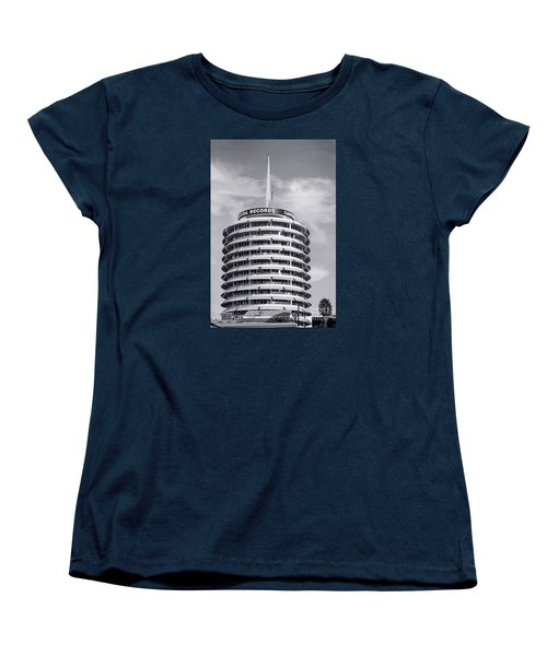 Hollywood Landmarks - Capital Records Women's T-Shirt (Standard Cut) by Art Block Collections