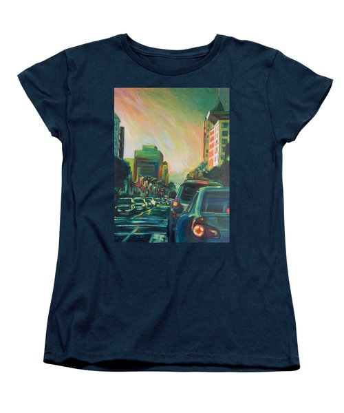 Hollywood Sunshower Women's T-Shirt (Standard Cut) by Bonnie Lambert