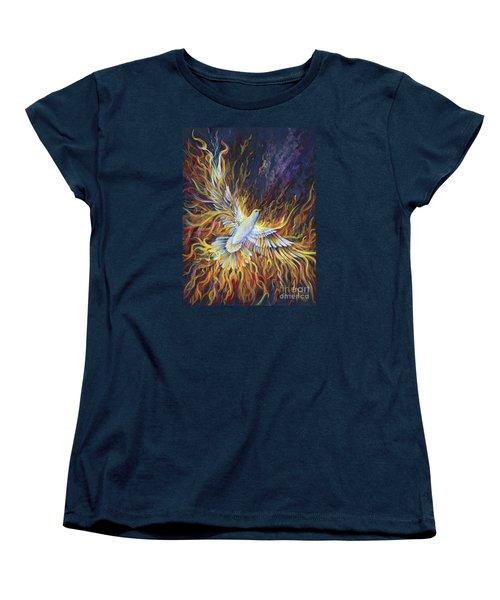 Holy Fire Women's T-Shirt (Standard Cut) by Nancy Cupp