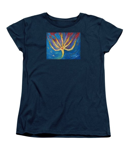 Women's T-Shirt (Standard Cut) featuring the painting Holy Spirit Which Dwells In You by Cassie Sears