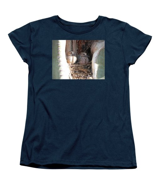 Women's T-Shirt (Standard Cut) featuring the photograph Home All Alone by Deb Halloran