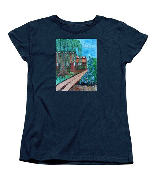 Women's T-Shirt (Standard Cut) featuring the painting Home by Cassie Sears