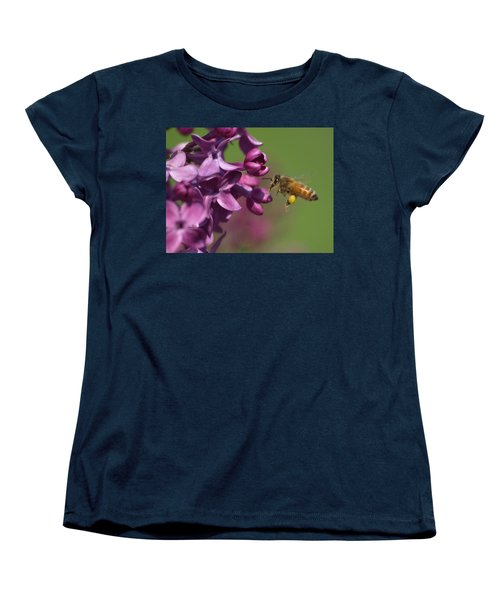 Honey Bee And Lilac Women's T-Shirt (Standard Cut) by James Peterson