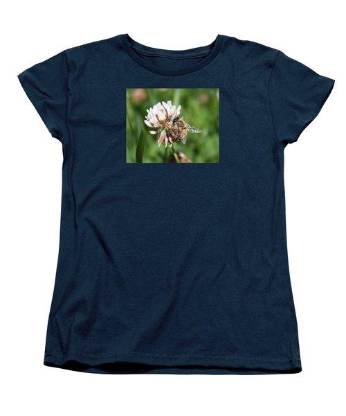 Honeybee On Clover Women's T-Shirt (Standard Cut) by Lucinda VanVleck