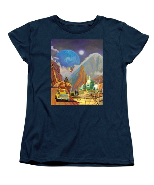 Women's T-Shirt (Standard Cut) featuring the painting Honeymoon In Oz by Art West